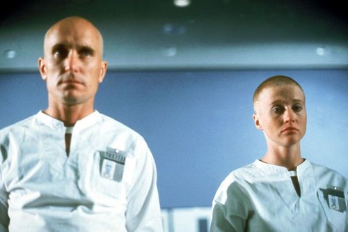 THX 1138 (Robert Duvall) is an android builder, and he's not following orders in taking the prescribed pills.