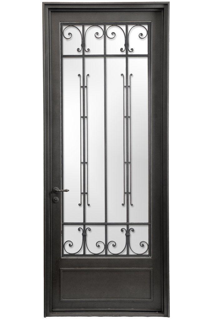 Puerta simple emilia comprar en del hierro design - Puertas de hierro ...