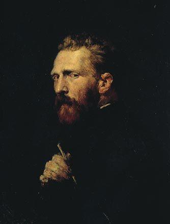 John Russell portrait of Van Gogh. Perfect.