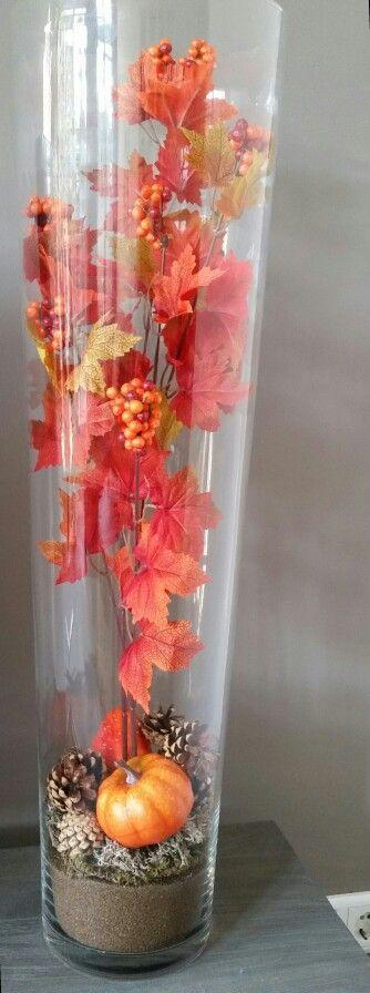 Herfstdecoratie met spullen van de action knutselen for Decoratie spullen