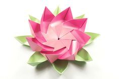 Decorative origami lotus flower lotus flower lotus and modular learn how to create a beautiful modular origami lotus flower this striking origami flower makes a decorative statement piece for your home mightylinksfo