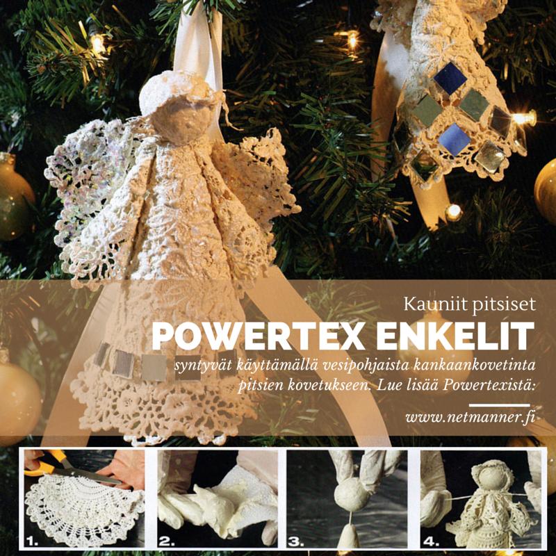Powertex kovetimen avulla voit työstää myös kauniita jouluisia koristeita vaikkapa pitsistä. #muotoilu #powertex #kankaankovetin #askartelu #craft #koristeideat #joulukoristeet #joulu #christmas #xmas #diy