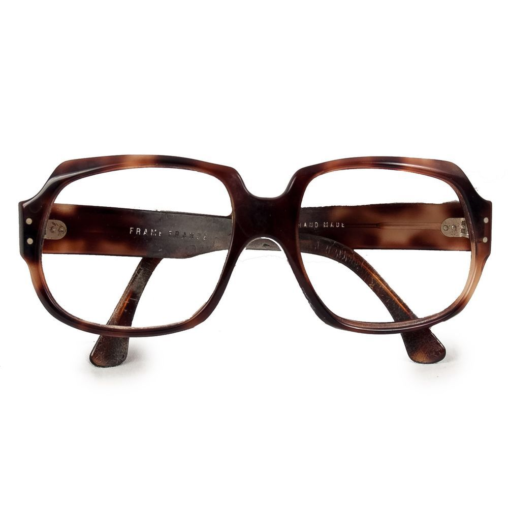 3566f9bc64  VintageEyeglassesFrames  70sFashion Tortoise Eyeglasses Frames Oversized  Brown  Hipster  Nerd France Hand Made
