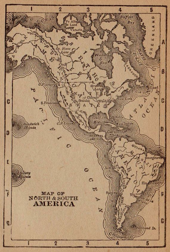 Interesting South America 1700 Vintage Style Odd Map 18x24