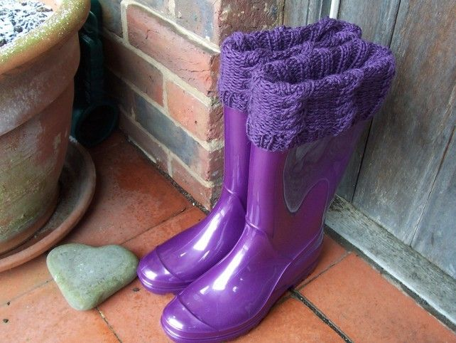 """Knitting Pattern for """"Cable"""" Boot Toppers £3.00"""