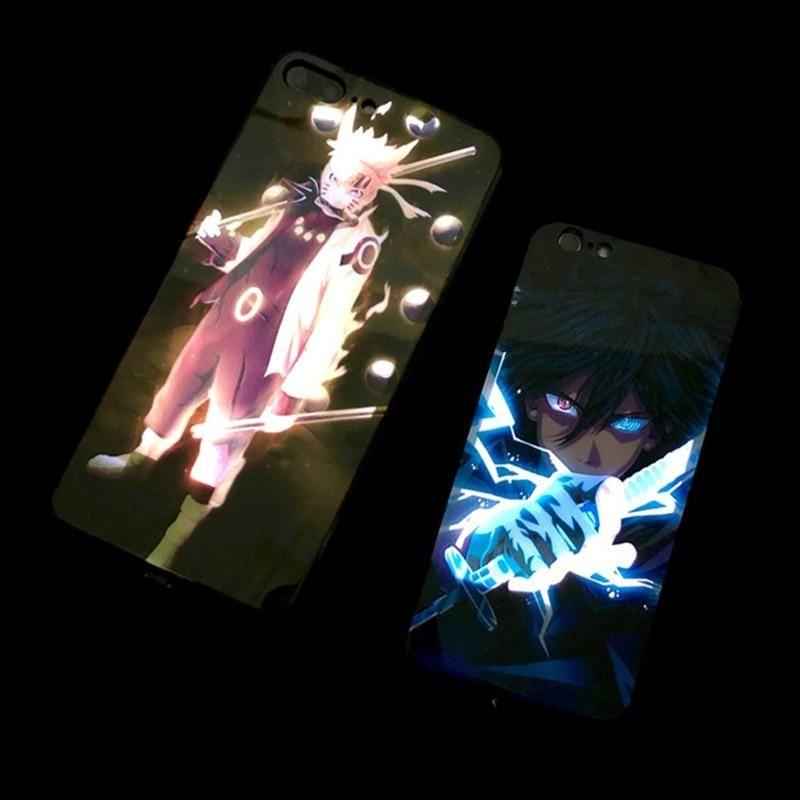 Anime Naruto Sasuke Led Sound Activated Iphone Case Iphone Cases Led Case Led Iphone Case