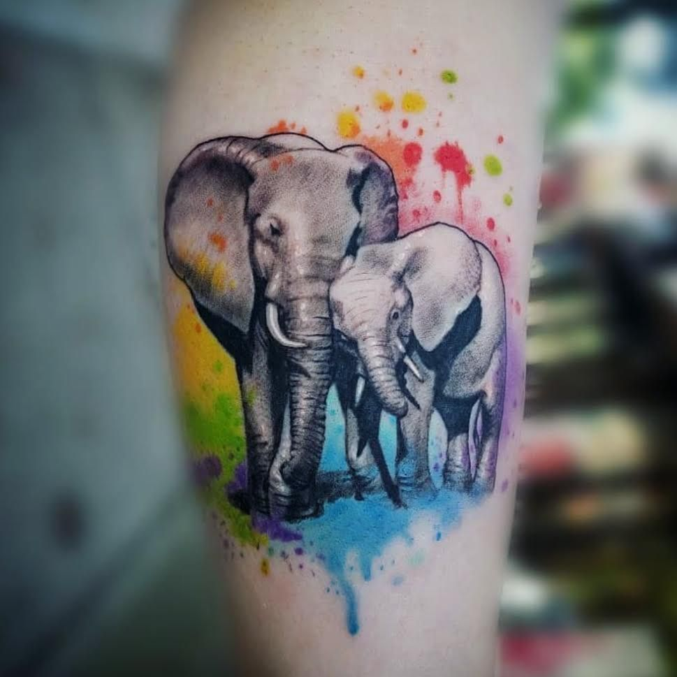 Sweet Elephant Tattoo Commemorating Motherhood By Rain