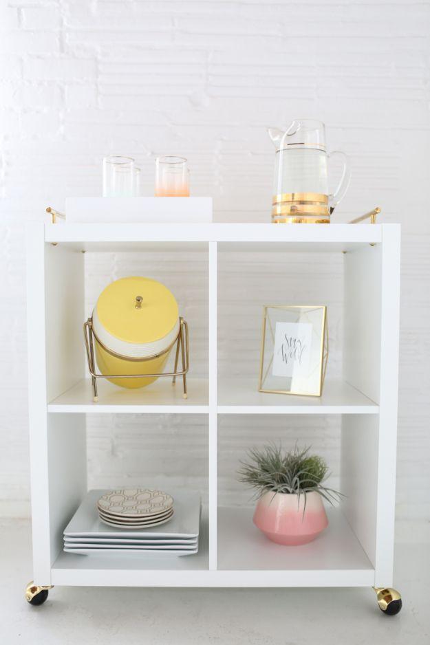 Jolie Desserte Pas Chere Avec Kallax Mobilier De Salon Diy Ikea Meubles Ikea