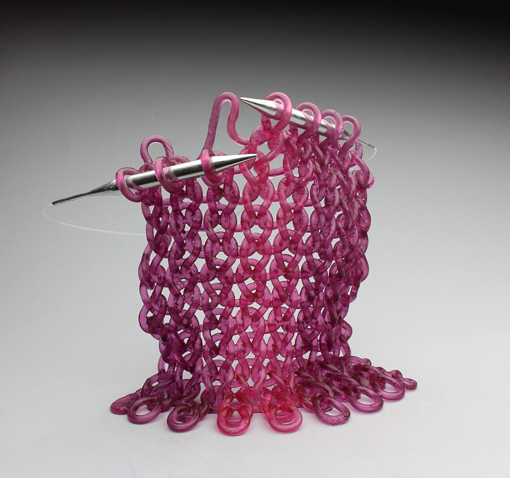 'Knit' Glass Sculptures by Carol Milne