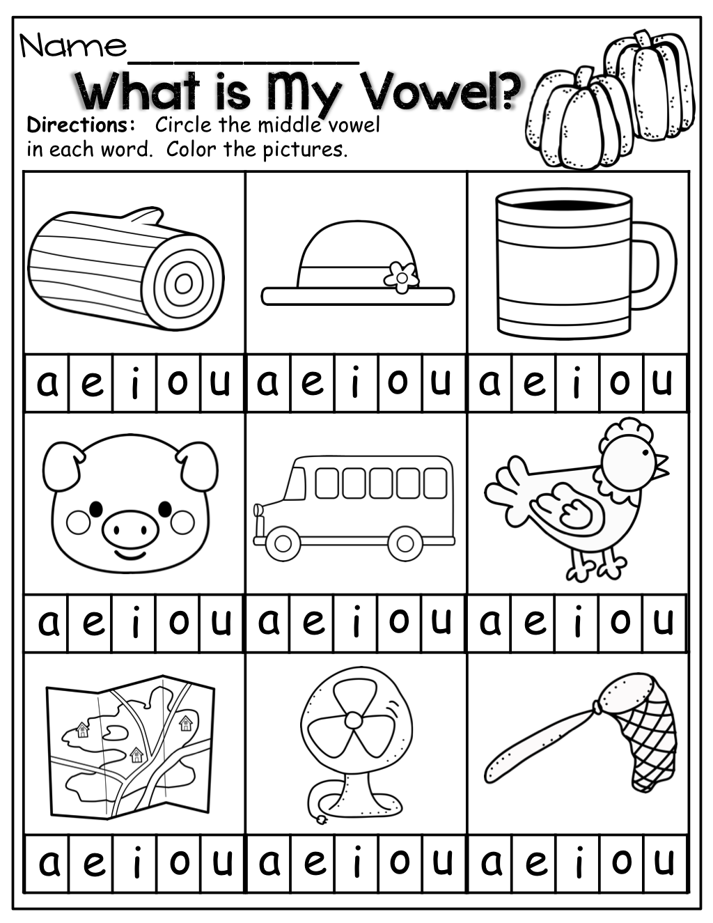 Short Vowel Sounds Worksheet For Kindergarten