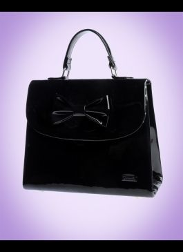 67aaf34c83 Medium Kelly Bag in Black Patent from Camomilla Milano from Pin Up Girl  Clothing.