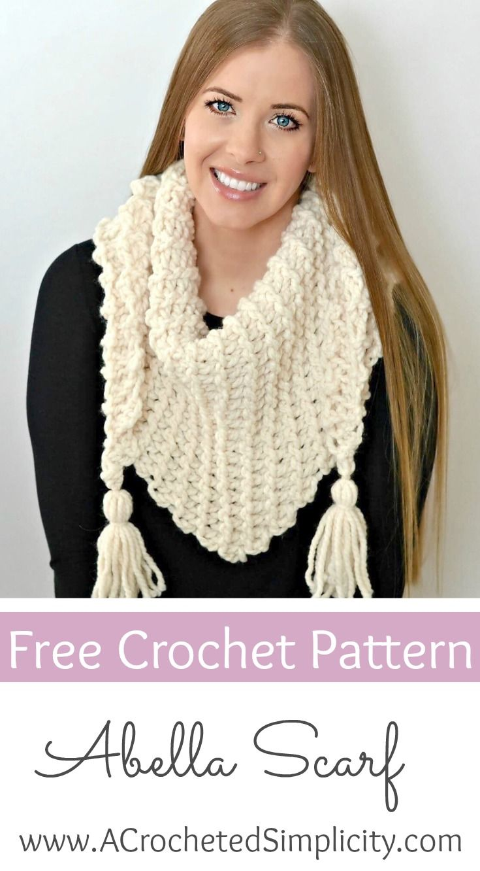 Free Crochet Pattern - the Abella Triangular Scarf by A Crocheted ...