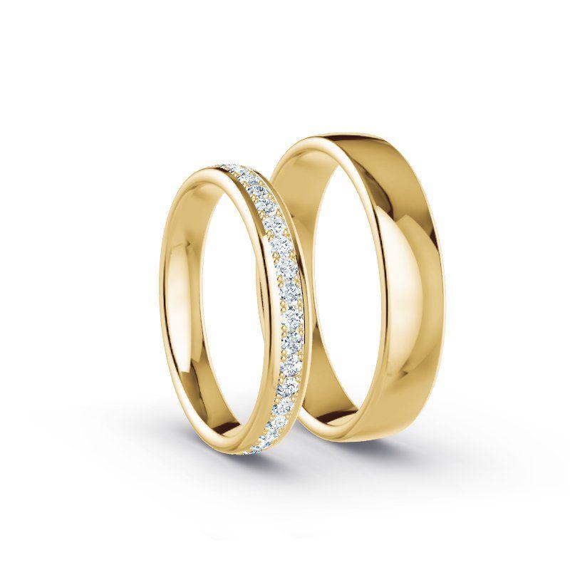 Trauringe Gelbgold 585 – 0.57 ct. Diamanten – Modell N°1501