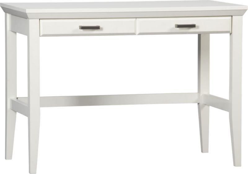 Paterson White Desk Crate And Barrel Modern Home Office Desk Simple White Desk White Desks
