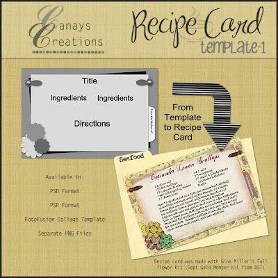 Recipe Card Template   Recipe Binders    Recipe