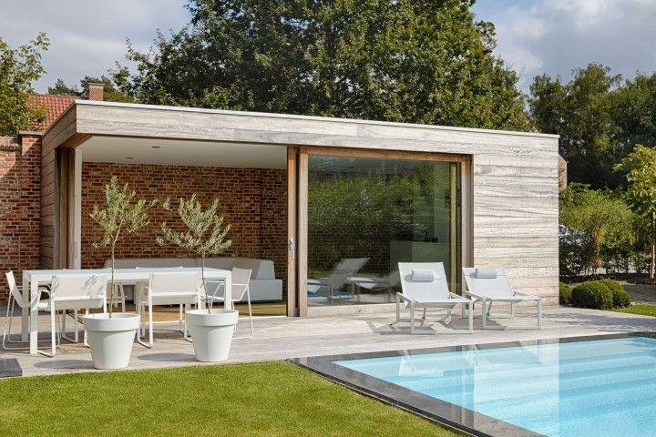 Tuinhuis tuin pinterest modern tuinhuis en tuin - Modern stenen huis ...