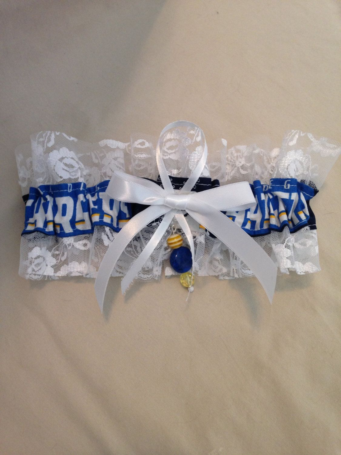 "San Diego ""Chargers"" Garter by SportzNutty on Etsy"