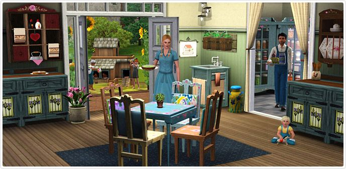 Country Livin Store The Sims 3 Sims 3 Stenciled Dining Table Sims