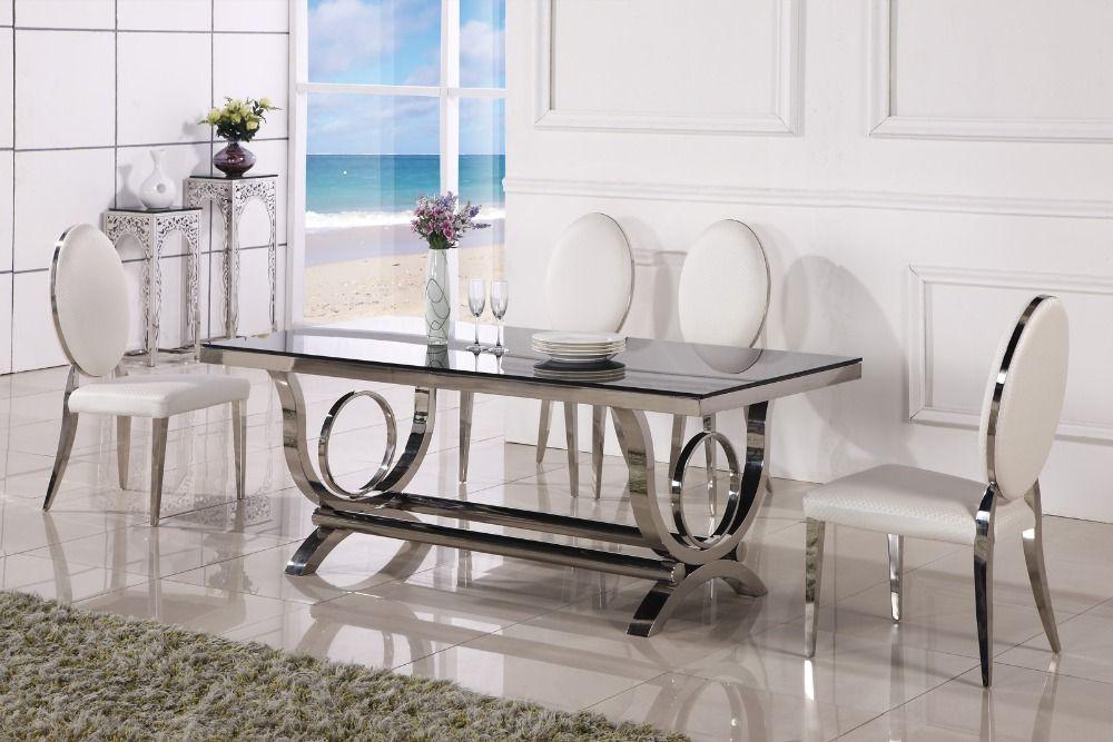 Eettafel marmeren en stoel goedkope moderne eettafels stoelen