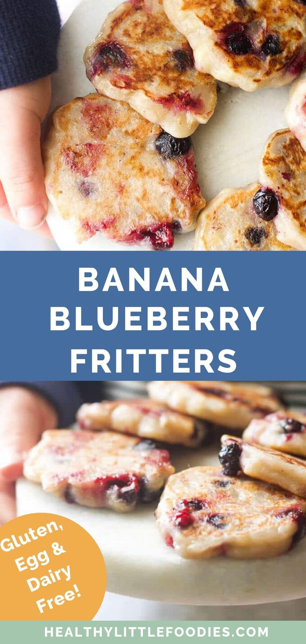 Banana Blueberry Fritters – Only 3 ingredients, great for baby-led weaning