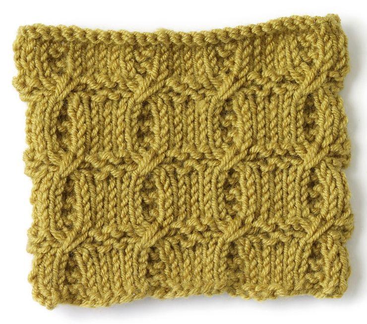 Knit Stitch: Cross Rib | PUNTOS A 2 AGUJAS | Pinterest | Dos agujas ...