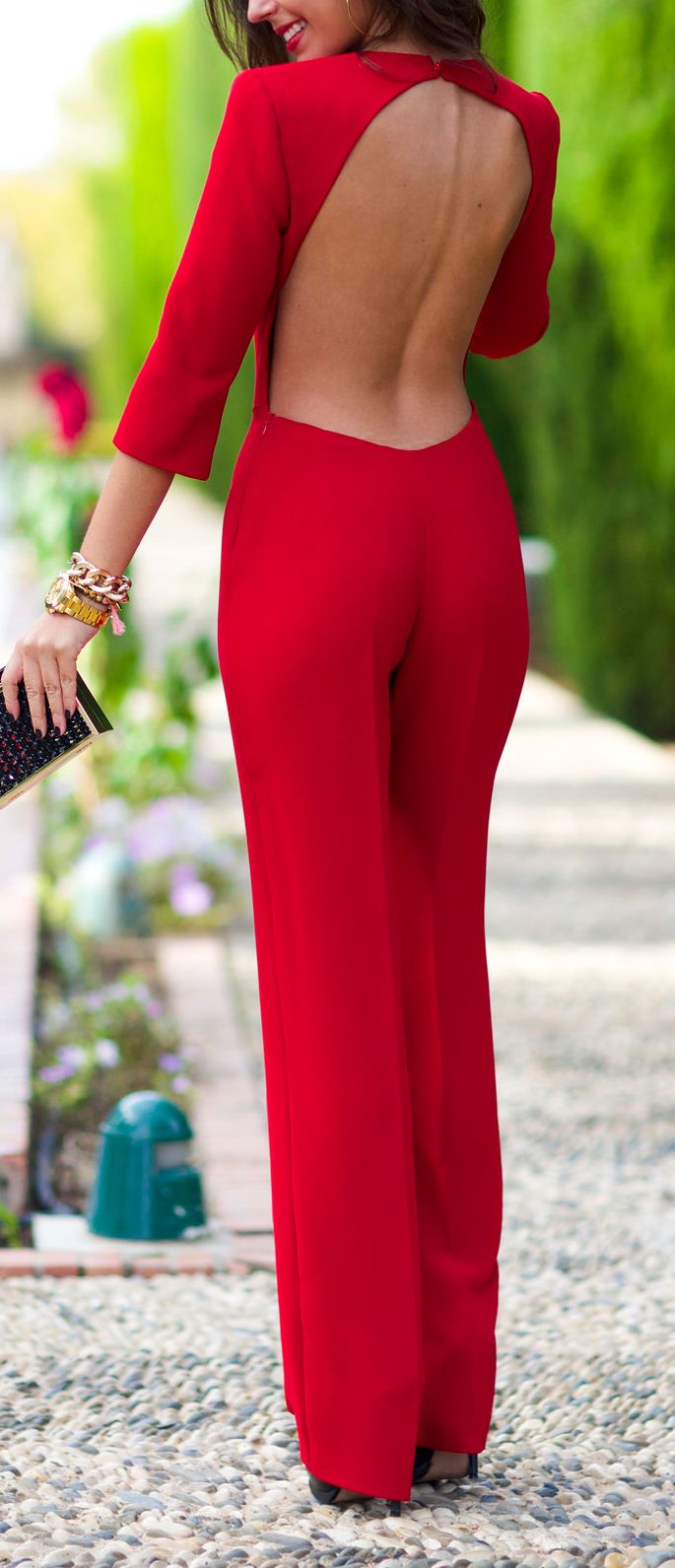 Backless jumpsuit jumpsuits pinterest clothes fashion and