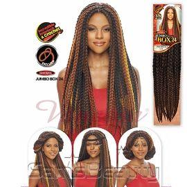 Vanessa Synthetic Hair Crochet Braids Havana 3s Jumbo Box Braid 24