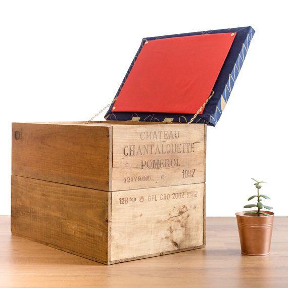 New Wine Crate Blanket Box Ottoman Stylish Seating And Storage