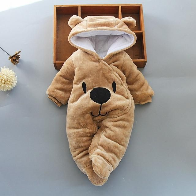 Pawsy Warm Jumpsuit - brown / 6M