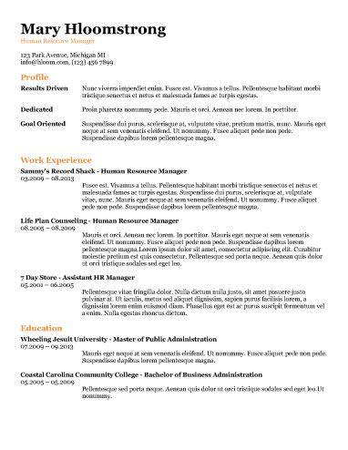 Ats Friendly Resume Templates Format 27 Samples Resume