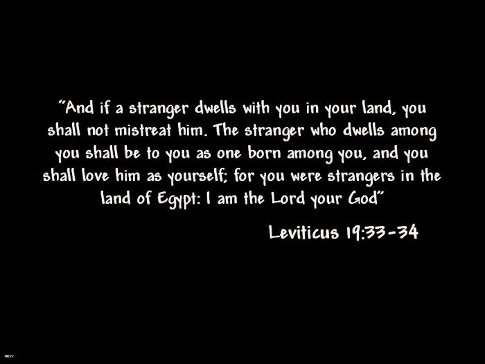bible verses about immigration