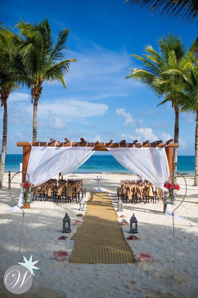 Beautiful Beach Gazebo At Excellence Riviera Cancun Beachwedding In Mexico
