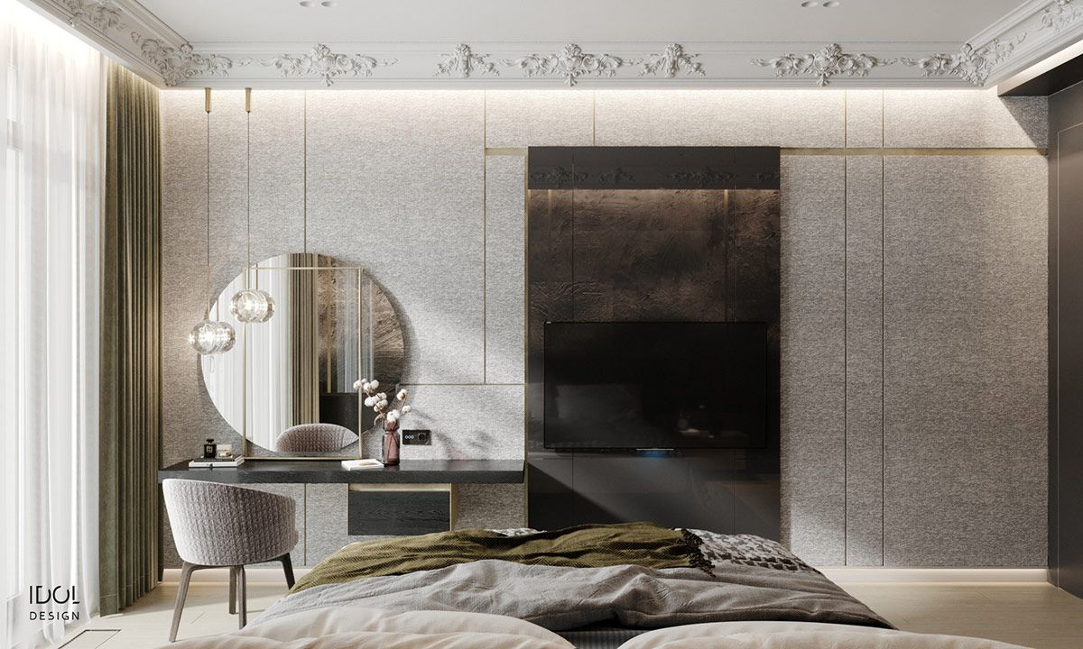 Luxury Modern Living In Grey And Gold In 2020 Modern Luxury Bedroom Luxurious Bedrooms Contemporary Furniture Design