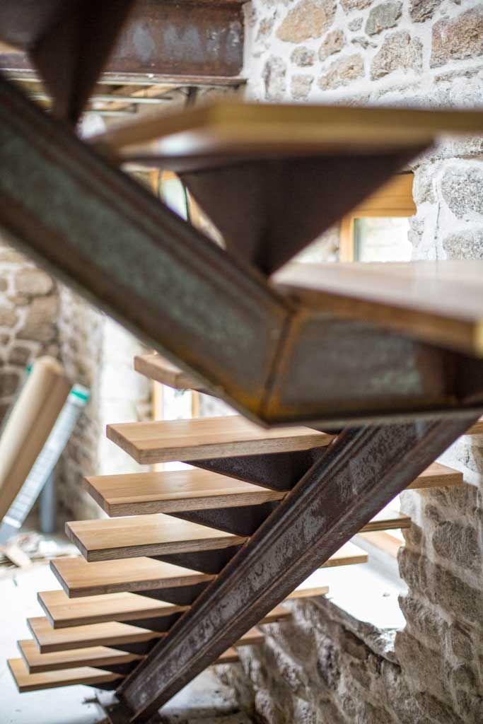 Escaliers Avec Images Escalier Escalier Bois Metal Escalier