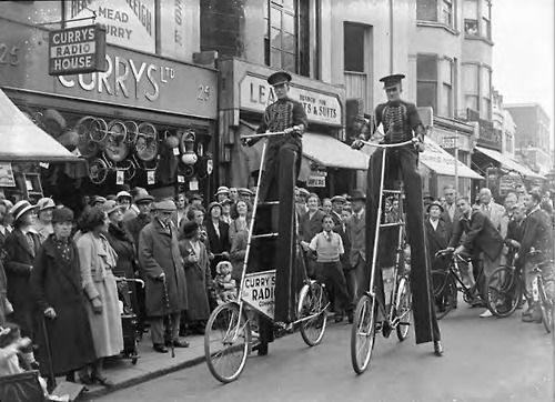 Tall Bikes On Brighton London Rd Date Not Known Vintage Bikes