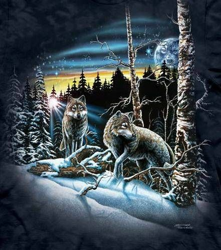 9e34f33b86 The Mountain Wolf T-shirt   Find 13 Wolves, Hidden Image T-shirts by The  Mountain, 103449