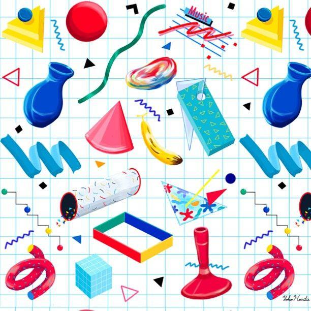 Yoko Honda | 80's & 90's inspiration | Graphic illustration