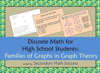 Discrete Math Families Of Graphs In Graph Theory Secondary Math Math Math Lessons
