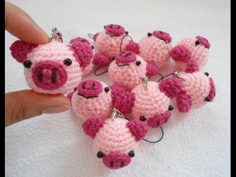 cute pig keychain - YouTube | CHEI CROCHET | Pinterest | Häkeln ...