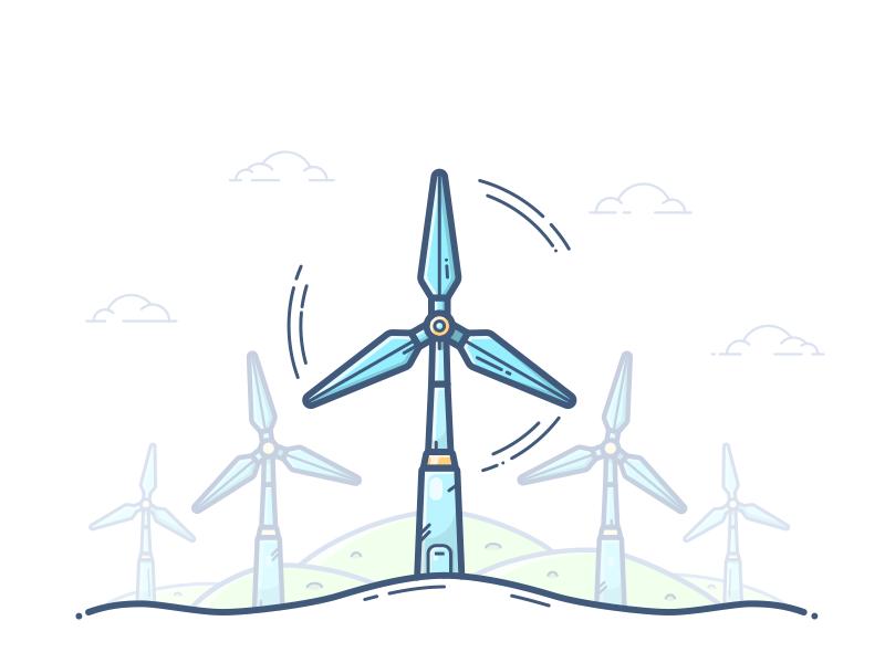 Wind Turbine Wind Turbine Wind Energy Logo