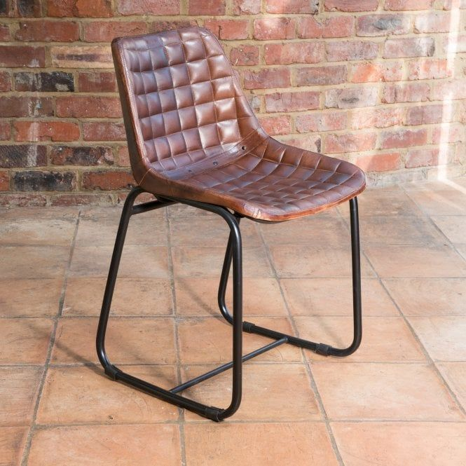 Terrific J N Rusticus Vintage Leather Metal Orkney Dining Chair Andrewgaddart Wooden Chair Designs For Living Room Andrewgaddartcom