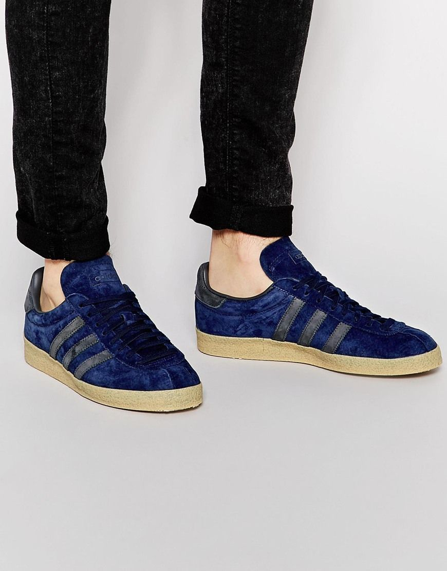 adidas gazelle indoor mens trainers in navy blue adidas nmd runner women
