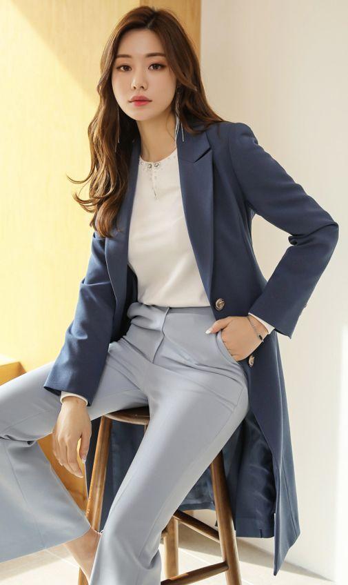 Single-Breasted Belt Set Long Coat