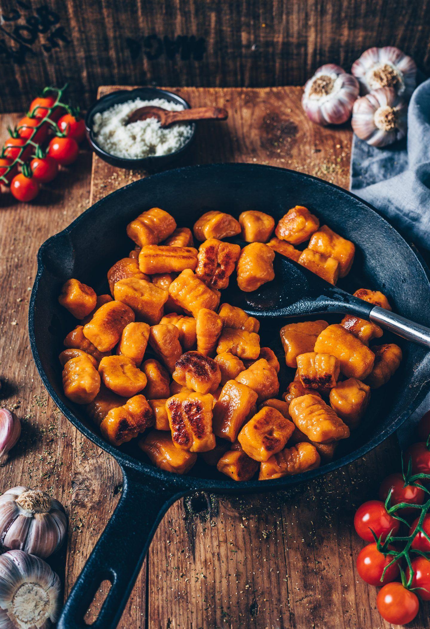 Vegane Süßkartoffel-Gnocchi (einfaches Rezept) #easyrecipes
