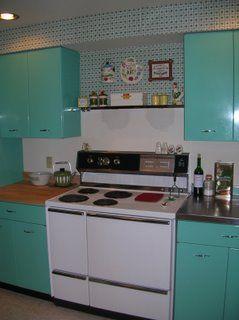 Jenn Ski: 1963 Geneva Steel Kitchen Cabinets, in Aquamarine!