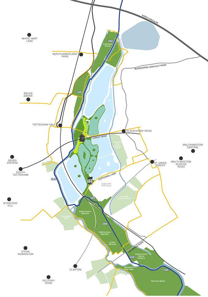 Walthamstow Wetlands Nature Reserve   London, UK   Kinnear ...
