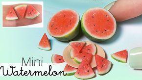 Simple Miniature Watermelon Tutorial // Dolls/Dollhouse DIY - YouTube #dollhouseminiaturetutorials