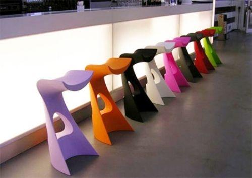 ideen designer hocker ungewöhnliche form barhocker bunt | Ideen rund ...