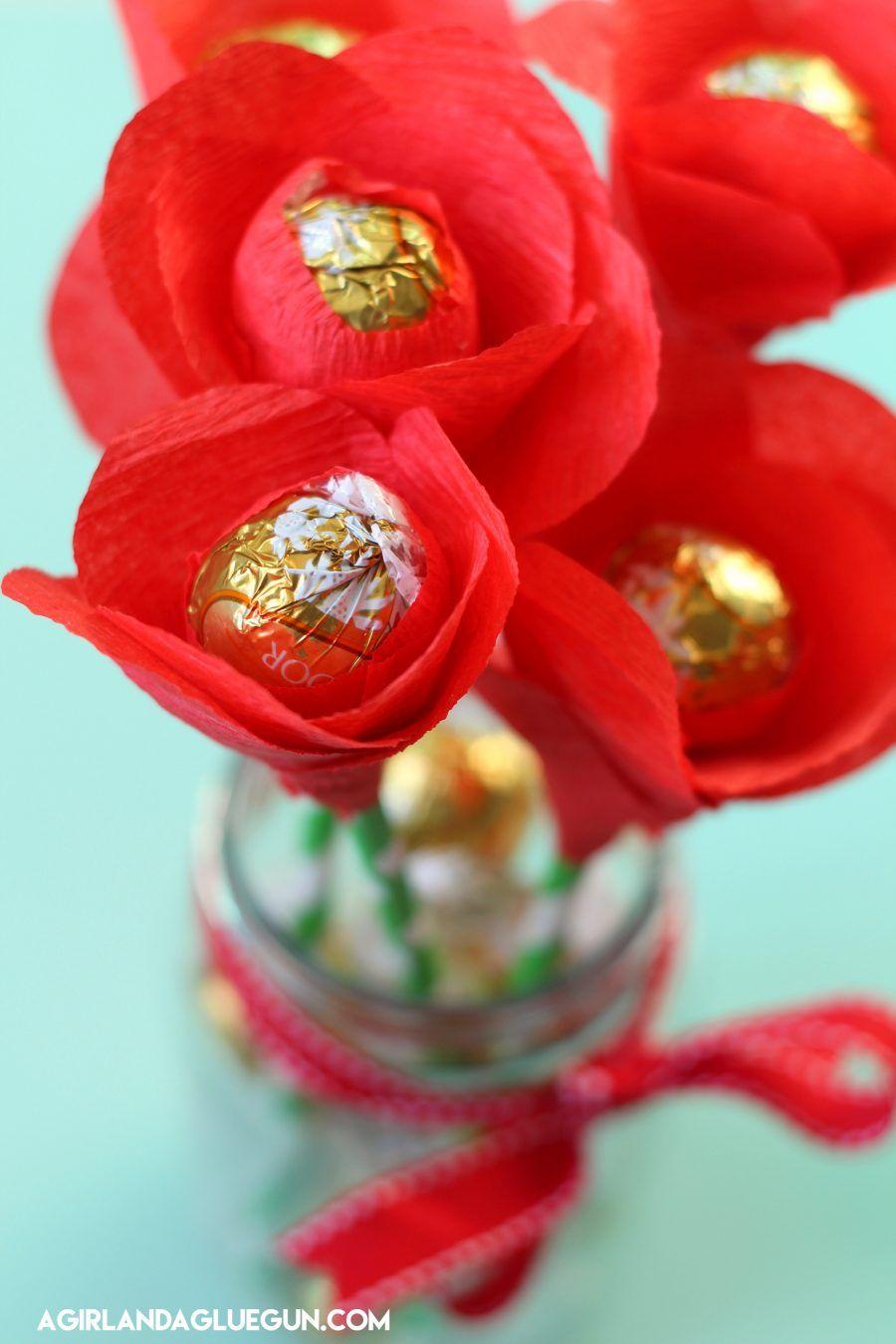 Candy flower bouquet glue guns flower bouquets and crepe paper candy flower bouquet a girl and a glue gun izmirmasajfo