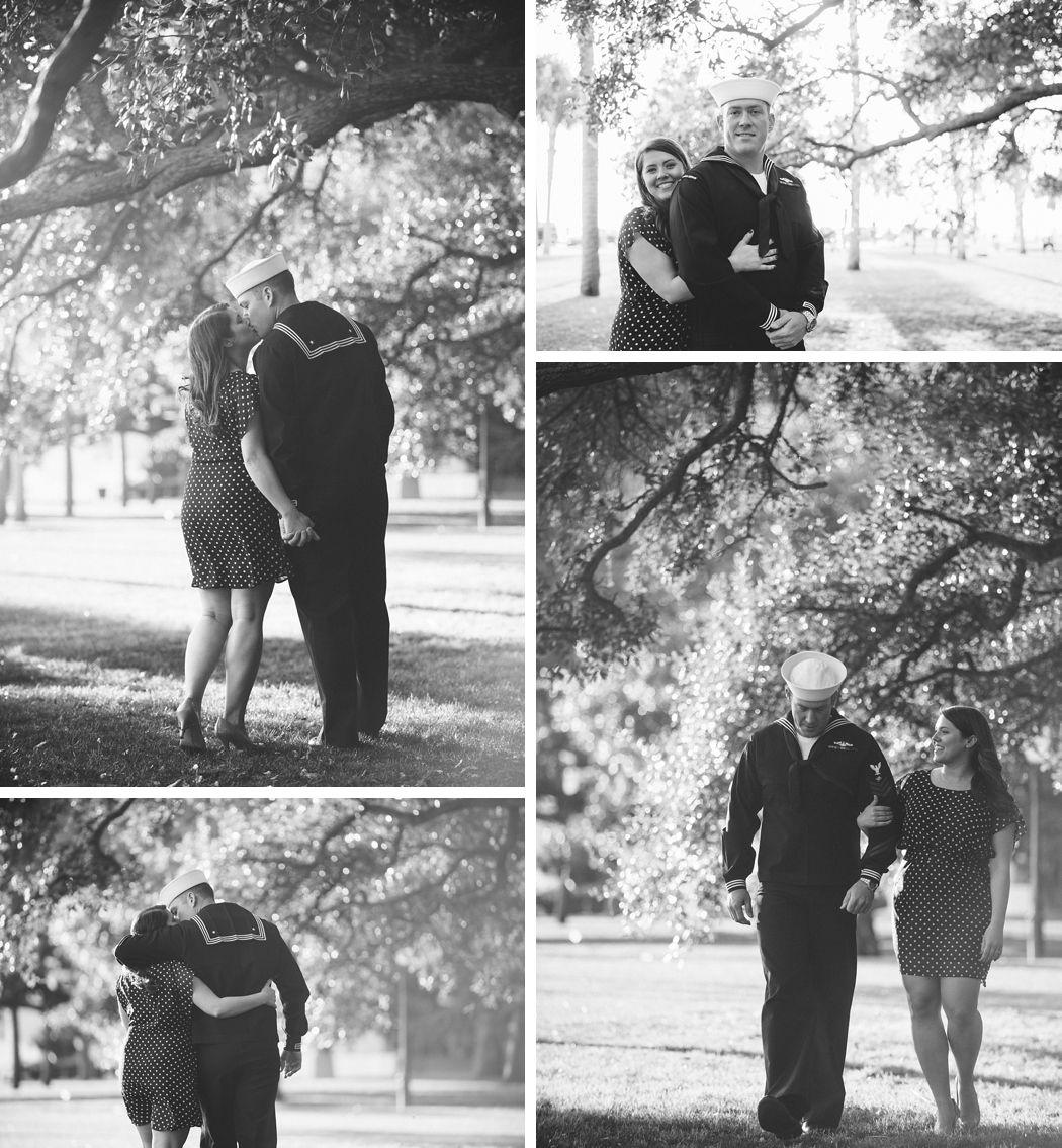 Navy Engagement Photos by Charleston wedding photographers Aaron Nicholas Photography